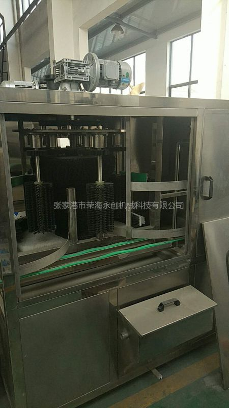 WS-1200荣海永创2-5加仑桶装矿泉水全自动外刷机旋转刷桶机