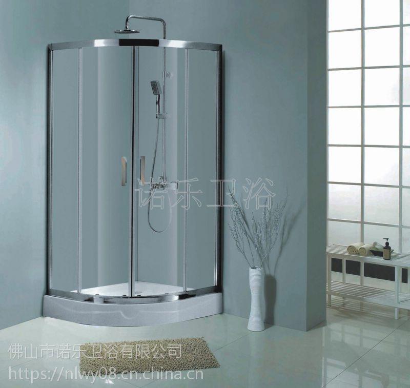 供应佛山淋浴房 BR-005 酒店工程淋浴门 浴室玻璃拉门 简易淋浴房批发 浴室拉门OEM