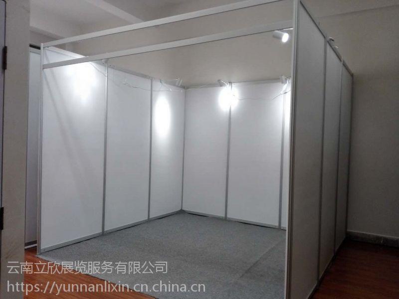 昆明标准摊位特装化,八分四分方柱标准展位材料厂家