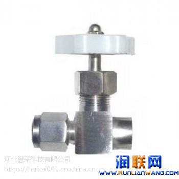 义乌管路截止阀,QJ-6角式外螺纹气动管路截止阀,