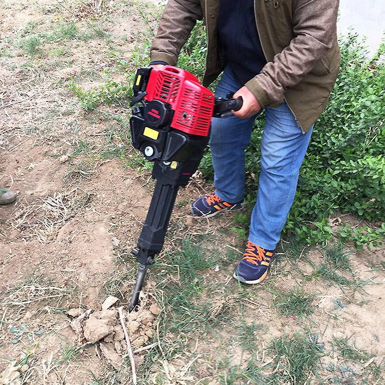 手提式汽油移苗机 强力断根挖树机图片 绿化树木移栽机