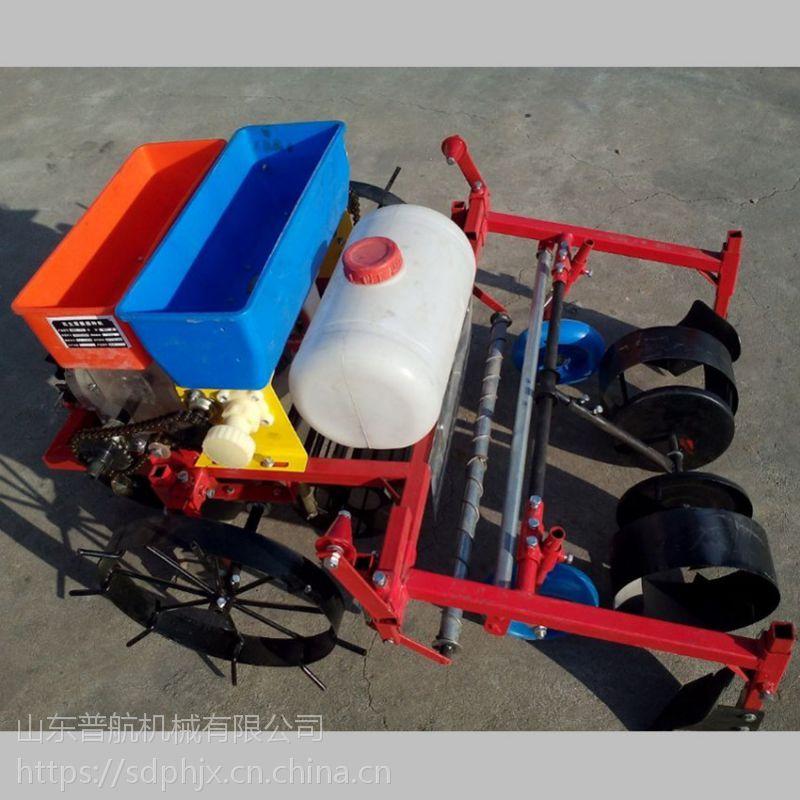 普航小型花生播种机机械 四轮牵引式花生四行播种机 喷药覆膜机报价