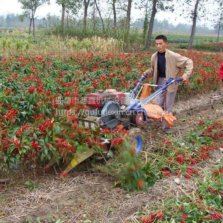 厂家直销 新款德鑫GT-160型割晒机割台 手扶拖拉机配套辣椒薄荷稻麦收割机割晒机