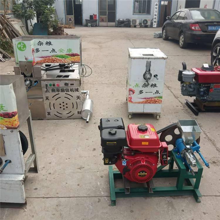 信达定制面包车载商用麻花型膨化机价格 汽油暗仓箱式玉米空心棒机