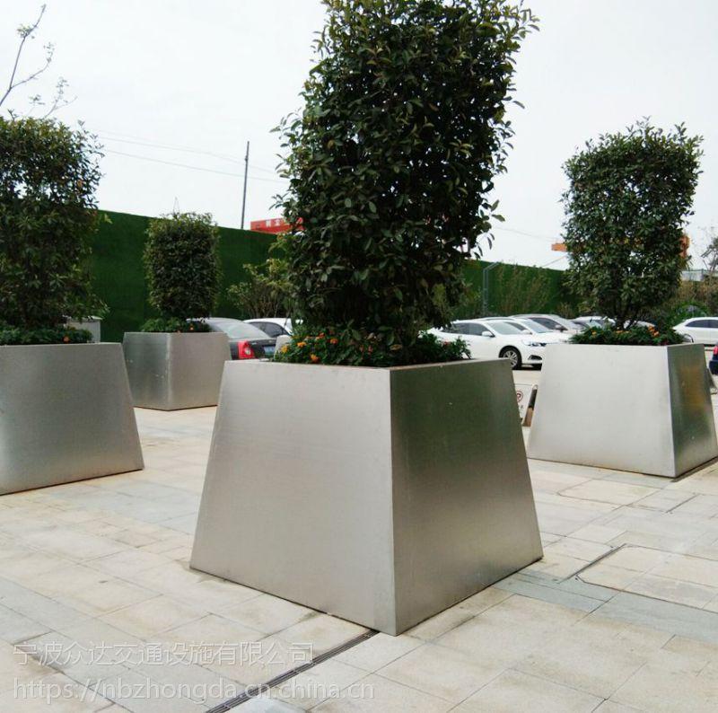 花箱厂家直销不锈钢景观花钵花箱,价格合理,提供安装!
