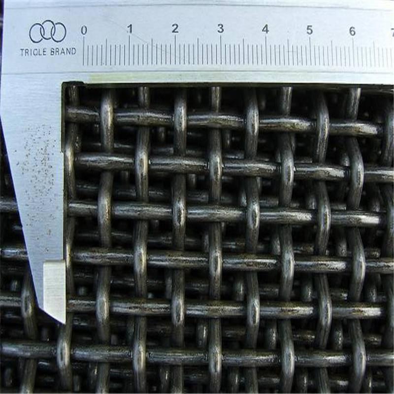 锰钢丝轧花网 矿筛网 振动筛网厂家