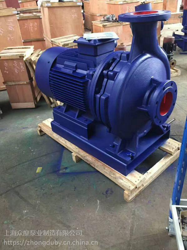 立式增压管道泵 优质立式管道泵 IHG65-315C 15KW 湖北众度泵业