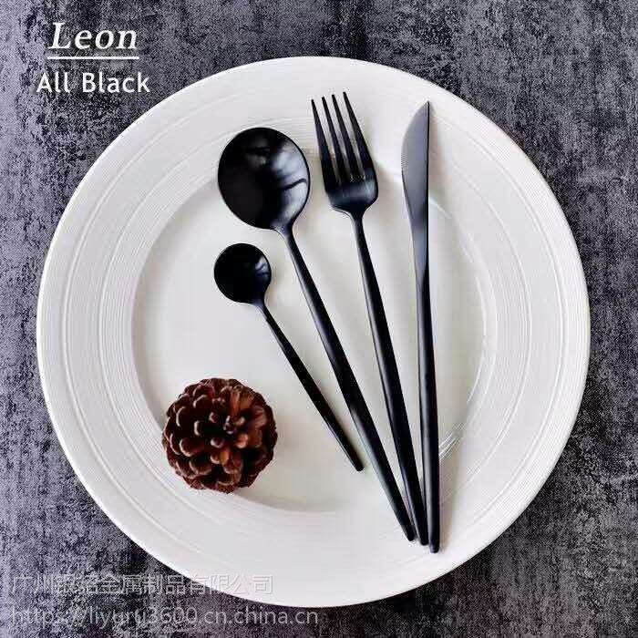 不锈钢牛排刀叉304西餐刀叉勺两件套装餐具出口品质