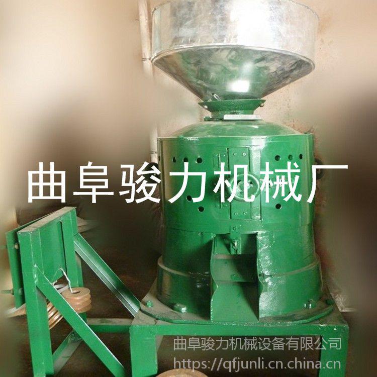 畅销 电动碾米机 小米谷子五谷杂粮脱皮机 双风道碾米机 骏力