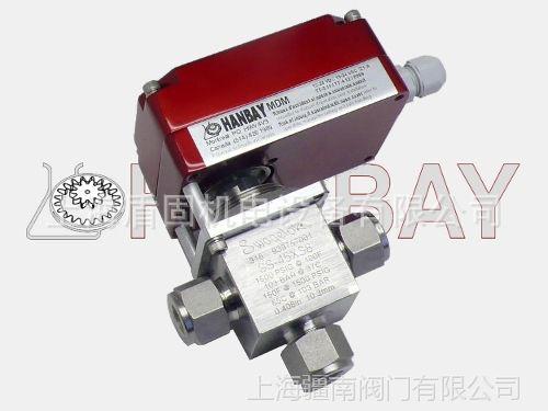 MDM-000XX-3-SS-45XS8电动三通切换阀、卡套电动三通阀HANBAY