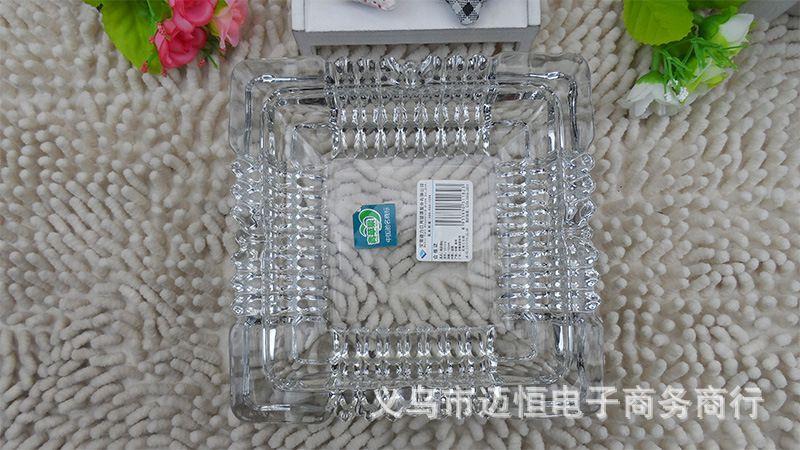 烟�9/&�+�yg���_9元店货源】yg1016中号方形烟灰缸 时尚水晶玻璃烟灰缸