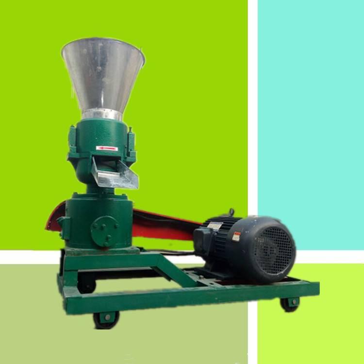 启航饲料造粒机 家用小型平膜料造粒机 养殖草粉颗粒机