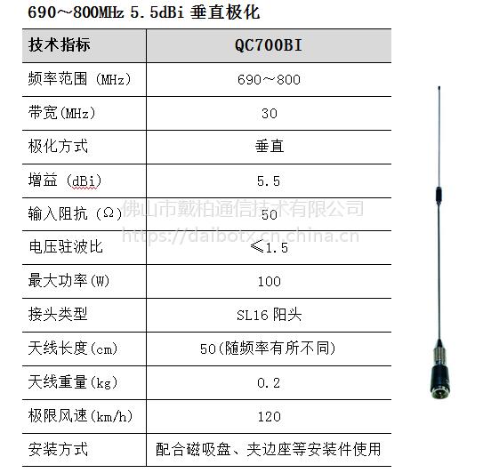 QC700BI 车台天线杆