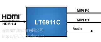 LT6911C龙迅Lontium HDM转MIPI音频接收器 深圳市九黎科技可提供技术支持
