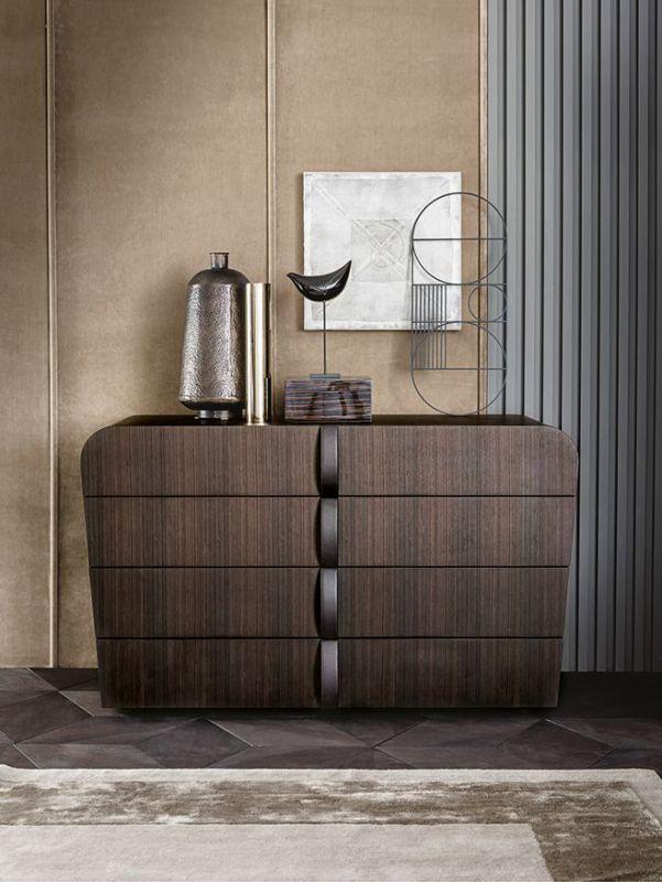 后现代客厅实木玄关柜装饰柜别墅定制家具