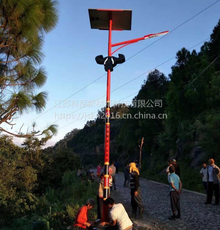 抚顺美丽乡村太阳能路灯亮化工程 鞍山5米20瓦太阳能路灯价格 江苏科尼照明中华灯
