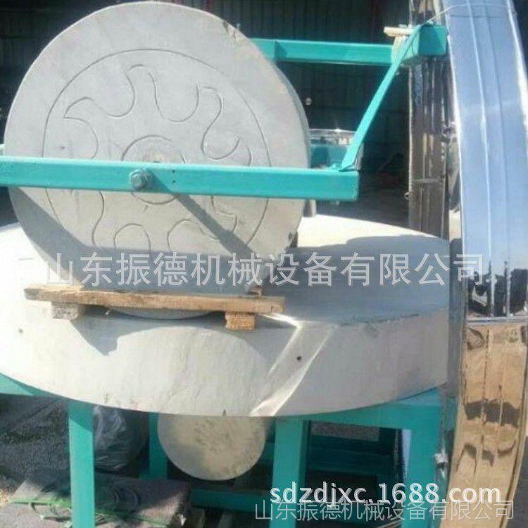 小麦面粉电动石磨 高粱磨面石磨机 振德直销 荞麦石磨机
