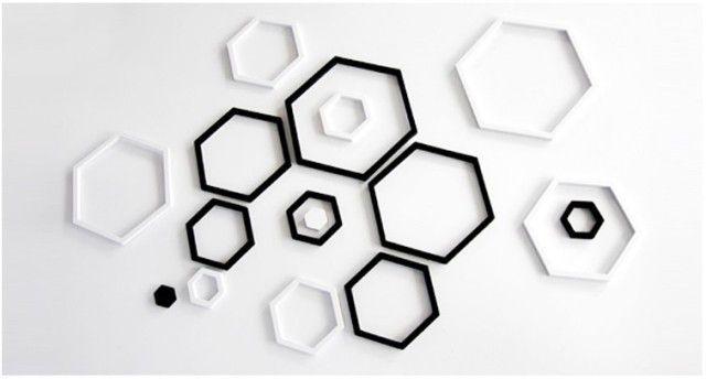 黑白肏网_产品介绍 产品信息 名称: 六边形墙贴 品牌: 美搁  颜色: 黑白红