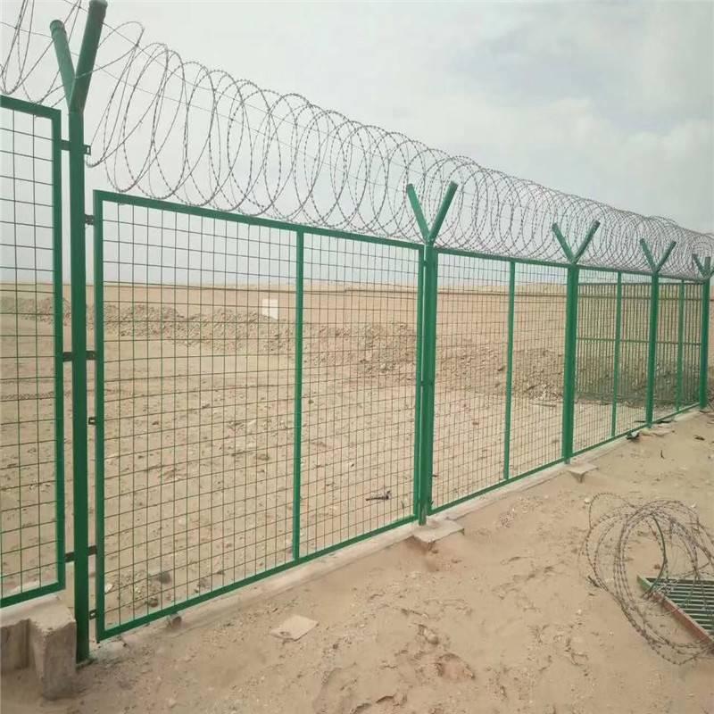 高速公路护栏 浸塑围墙 框架护栏网