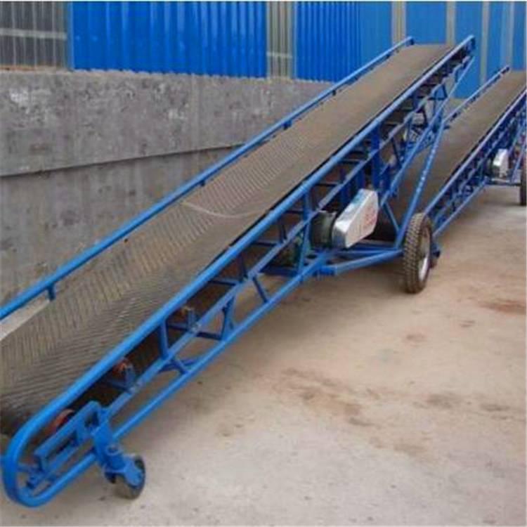 上海装车卸货皮带输送机 兴运防滑型水泥装车皮带传输机