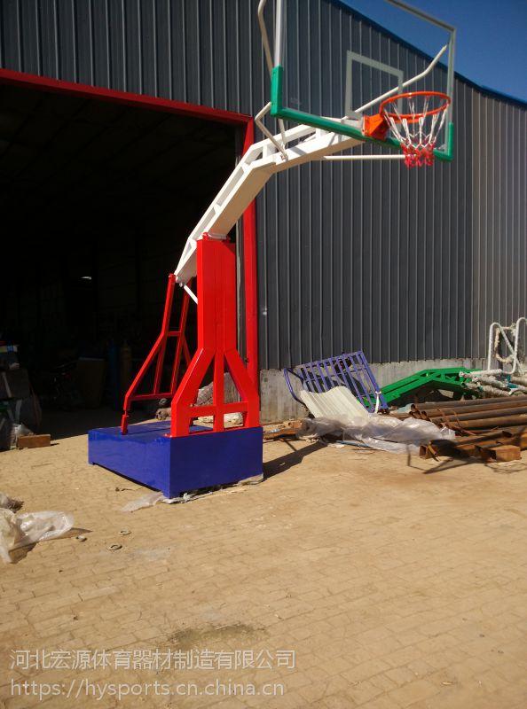 宏源平箱新型加固三色仿液压篮球架厂家直销供应
