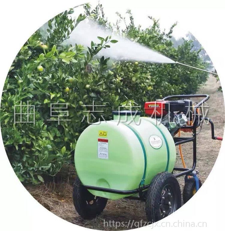 爆款果树推车打药机160升汽油路面清洗机农用高压喷雾器农田杀虫机
