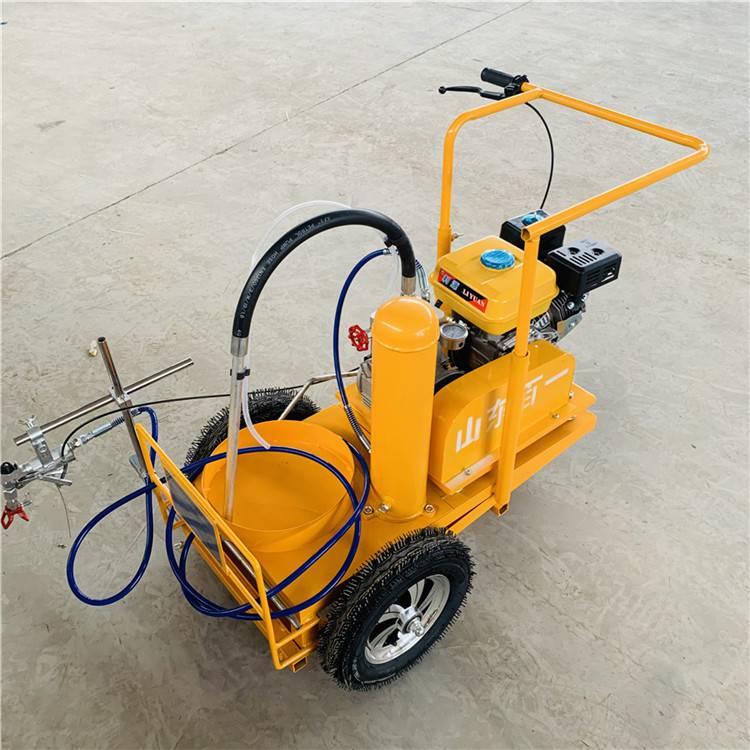 冷喷式道路标线机 手推式汽油划线机 宽度可调的路面划线机