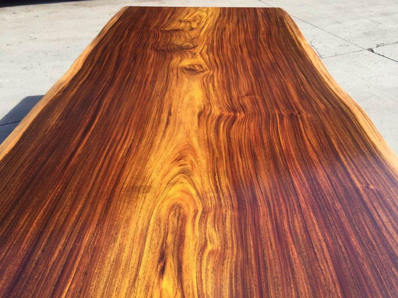 奥坎大班台会议桌现货496长158宽原木实木大板办公桌画案