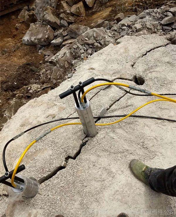 开采花岗石不能放炮场地机载劈裂棒