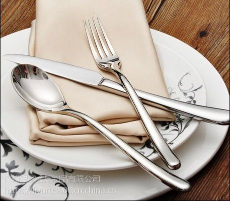 银貂 不锈钢刀叉 月光 西餐餐具批发 刀叉勺 广州不锈钢餐具厂