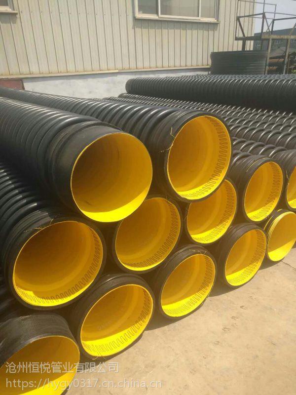 克拉管,HDPE缠绕结构壁B型管恒悦管业规格齐全,全新上新