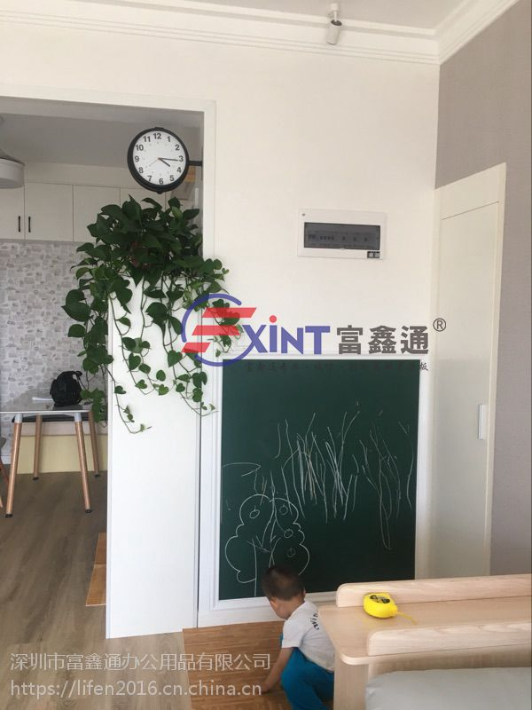 圆角钢化磁性玻璃绿板7会议室家用绿板7美观耐用安全