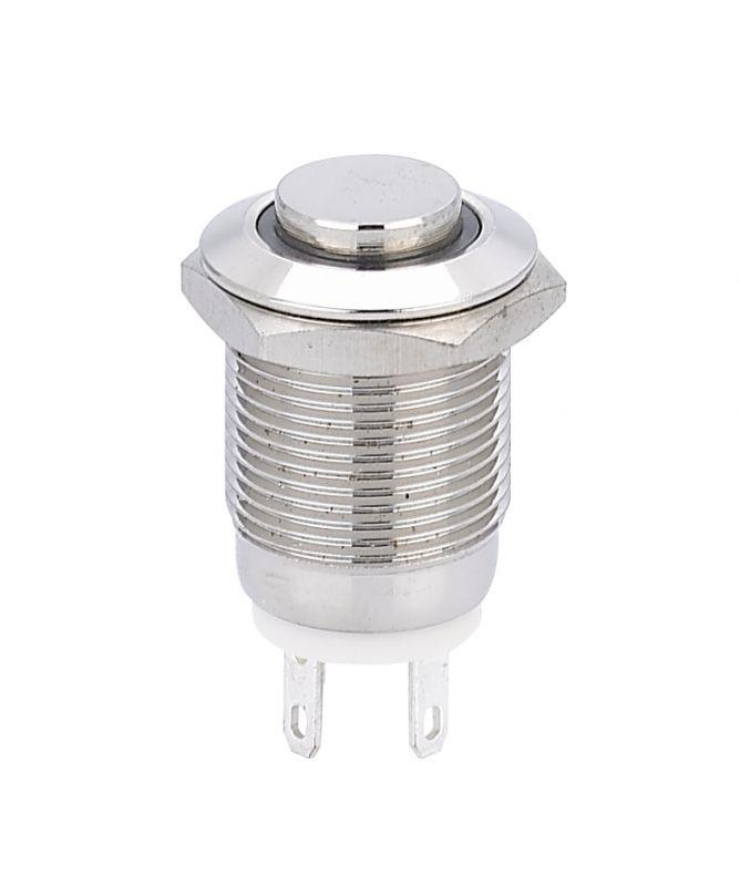 厂家批发12mm金属启动平头按钮开关 不锈钢汽车按钮开关按键开关