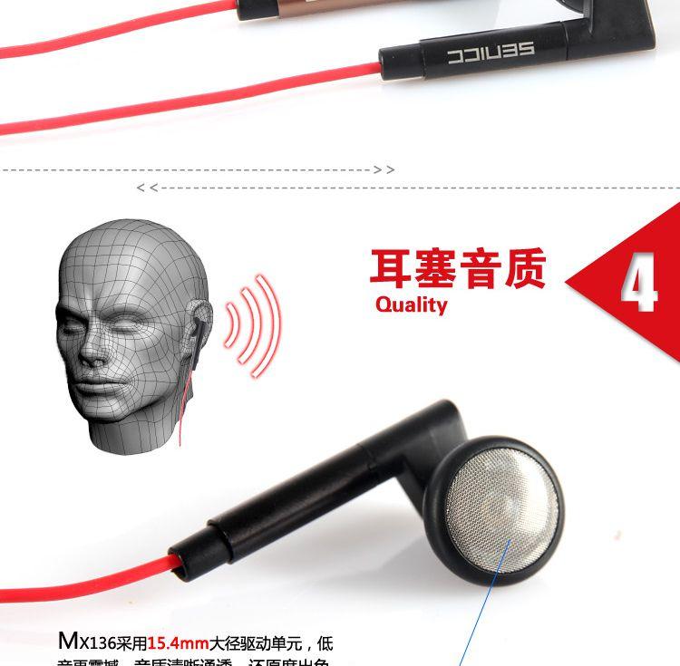 声丽MX136手机手机耳机耳塞三星HTC小小米苹果全球通v手机关闭图片
