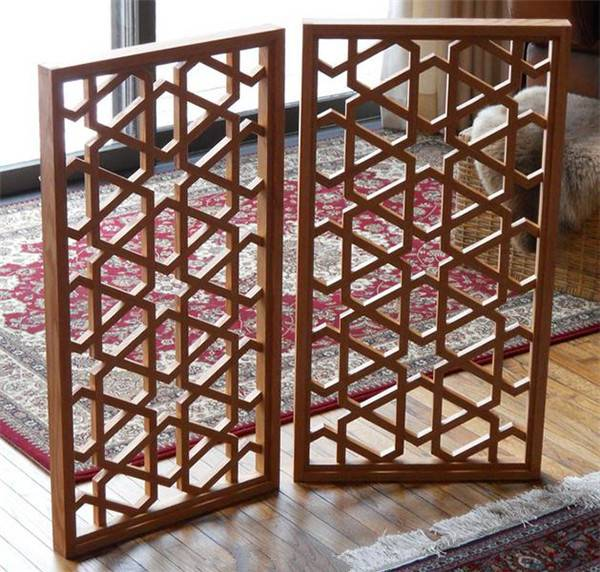 中式风格木纹铝花格 仿古园林铝花格窗