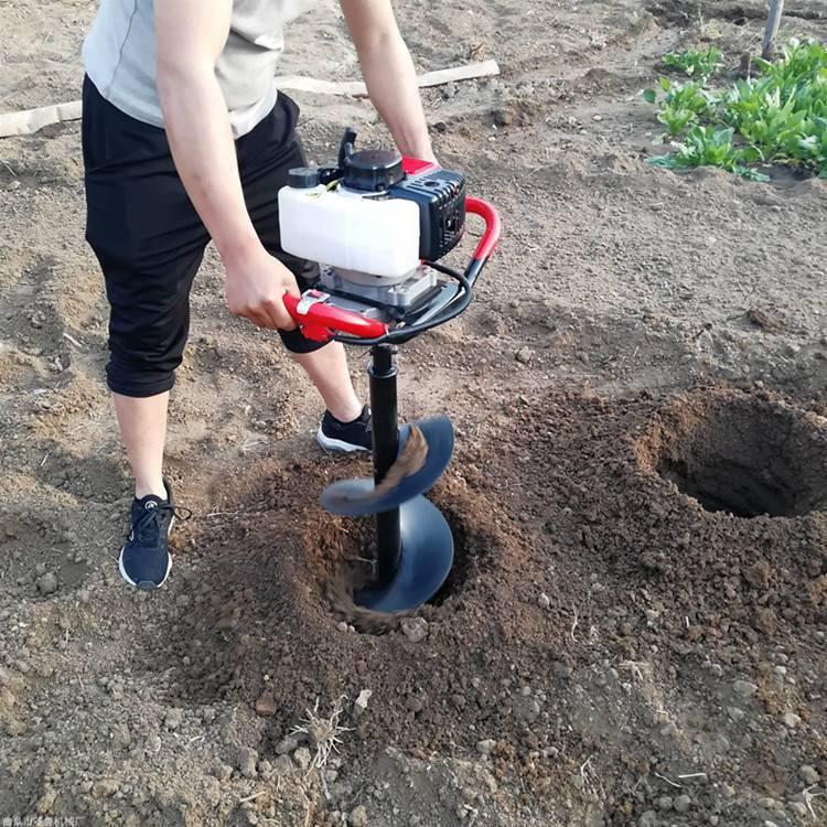 大型汽油地钻 小型挖坑机 圣鲁牌