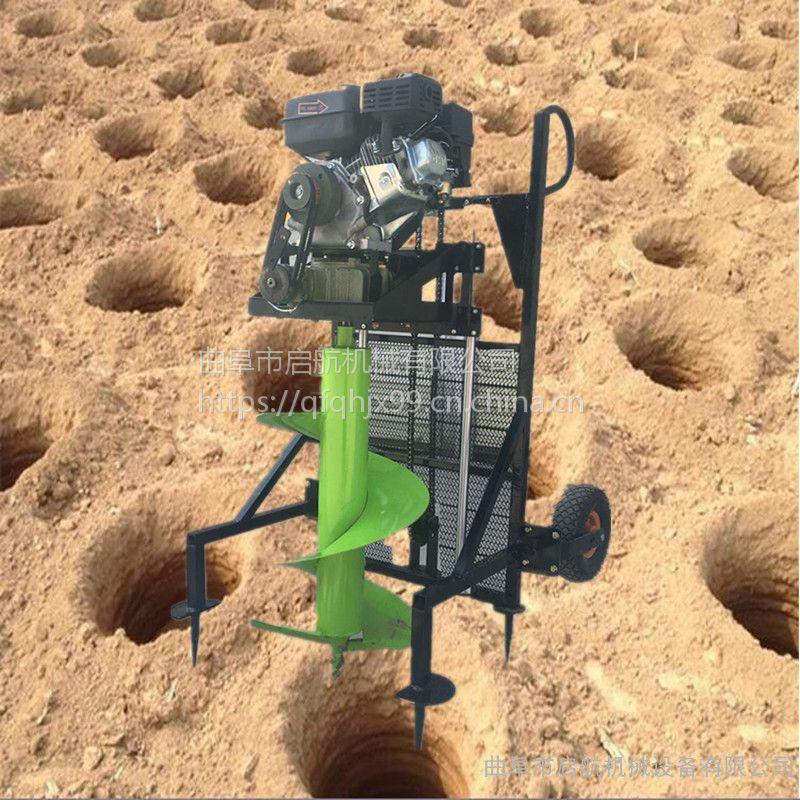 汽油挖坑机 启航植树打窝机参数 园林植树专用打坑挖窝机