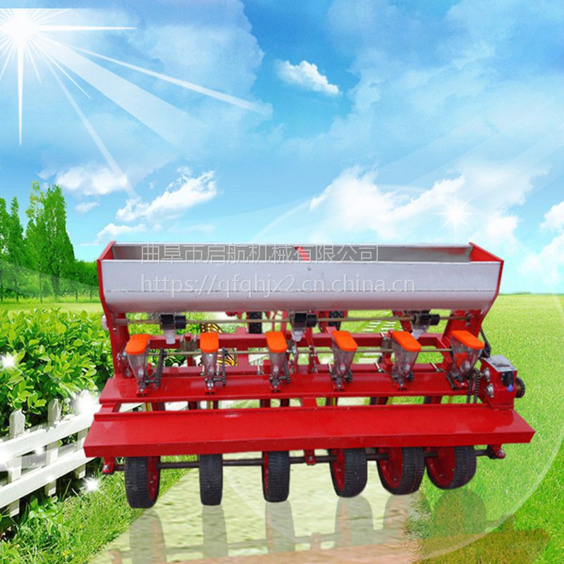 拖拉机带六行小颗粒精播机 启航新疆油菜播种机 农用谷子播种机