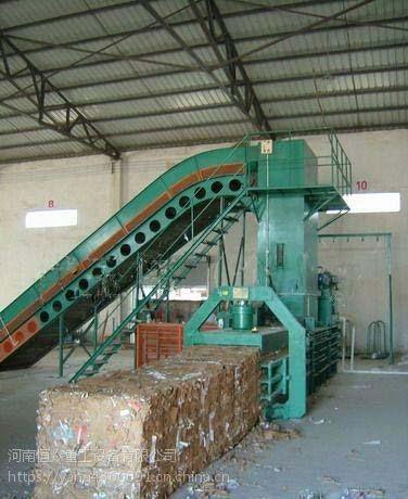 厂家质量保证全自动液压废纸打包机