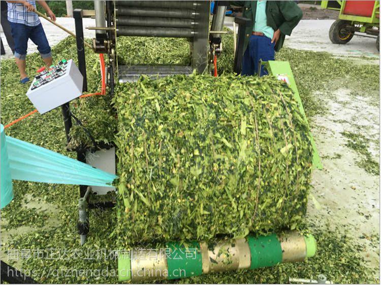 牛羊牧草打包机 养殖青贮加工 打捆包膜一体机