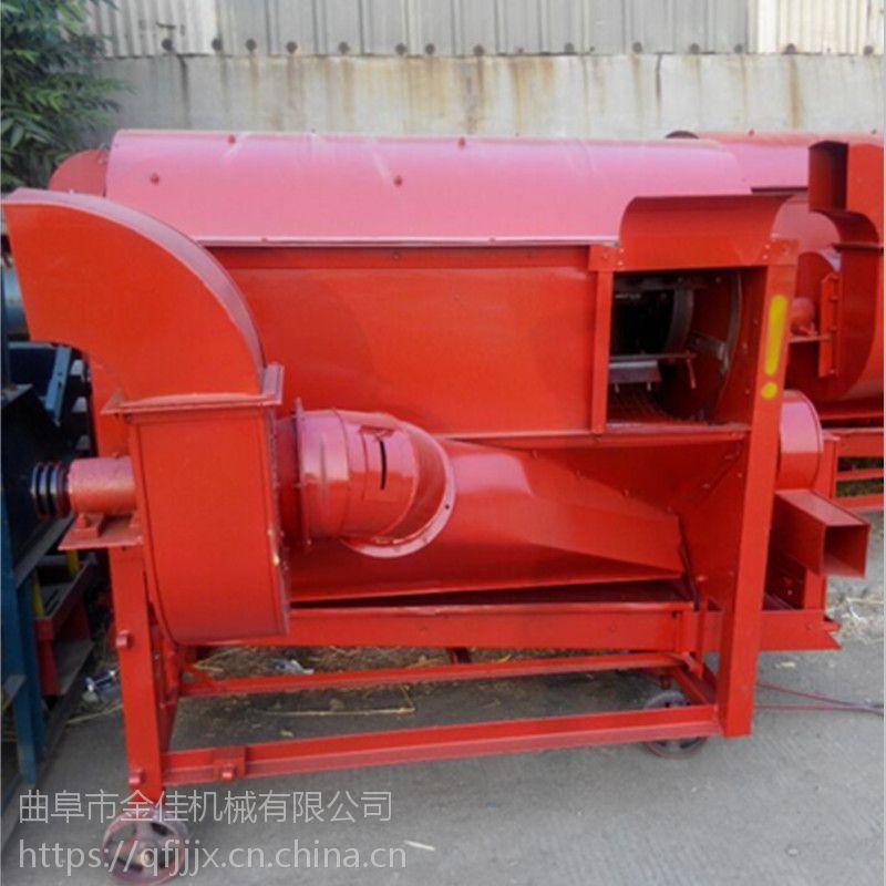 黄豆粒杆分离机设备 谷子高粱脱粒机 农用高粱脱粒机金佳机械