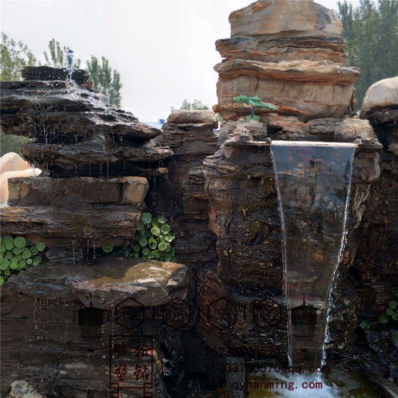 庭院阳台黑千层石假山流水鱼池客厅假山石头摆件墨石流水景观瀑布多种天然石材