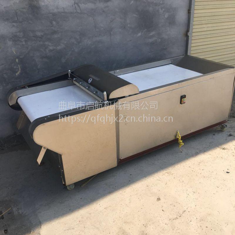 新款不锈钢型木瓜切片机 不锈钢型年糕切块机 启航牌工厂食堂用胡萝卜切片机