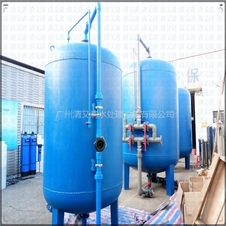 广旗南丹县正品工业级大型净水器设备304不锈钢机械过滤器泳池水井滤水器
