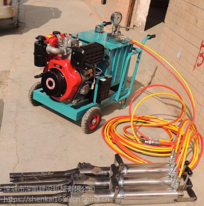 液压分裂机专业边坡坚硬花岗岩拆除推介设备深凯建设