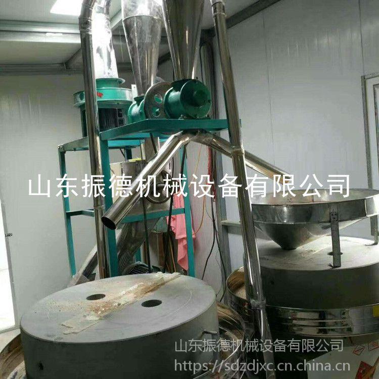 原生态荞麦面粉机 振德 批发电动石磨机 粮食加工全麦面粉机