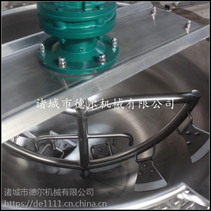 鸭脖卤煮锅 德尔厂家直销 可傾式电加热不锈钢夹层锅