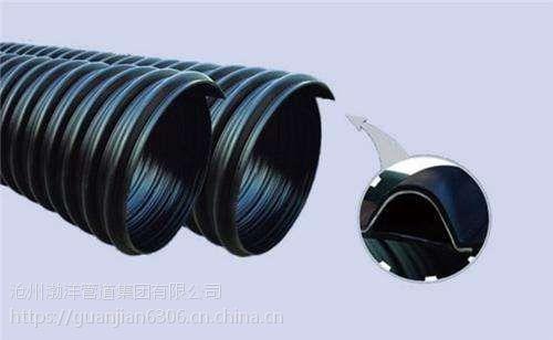 HDPE内肋增强波纹管厂家排水波纹管一米价格