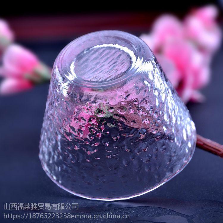 独特设计表面凸起纹路品茗用具 彩色玻璃茶杯碗 系列