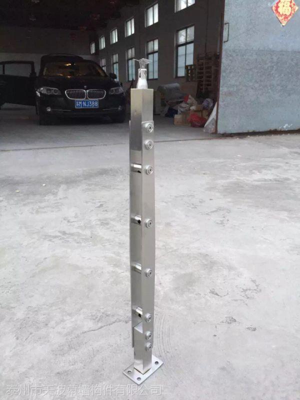 江苏泰州天波幕墙厂家直销304不锈钢穿管子立柱 可定制